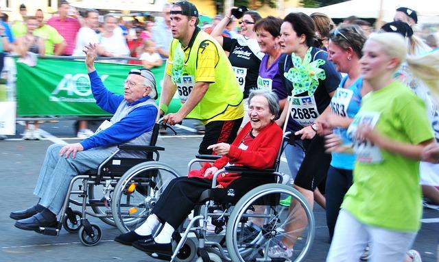 závodníci s handicapem